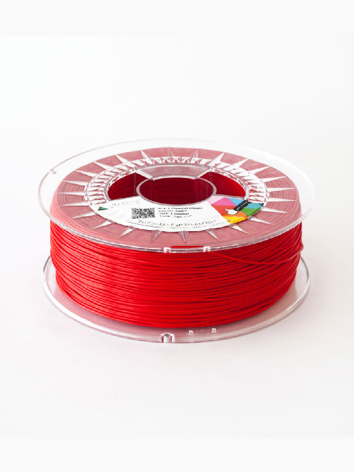 Filamento Smart Material PLA 750 gr. 1.75mm - Ruby (rojo)